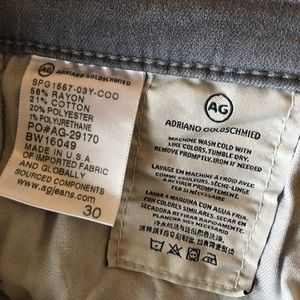 Ag Adriano Goldschmied Jeans - AG The Prima Crop midrise cigarette crop sz 30